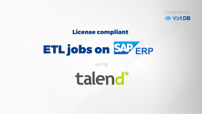 license compliant etl jobs on sap